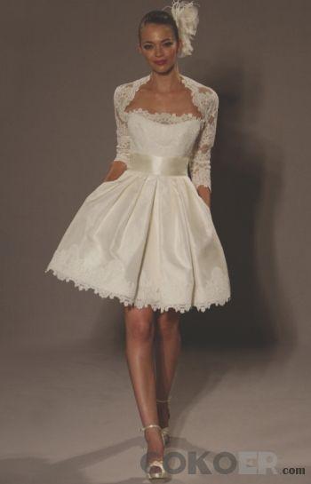 Korta-Brudklänningar-strapless-elfenben-romantiska-mini-baby-doll-korta-bröllopsklänningar
