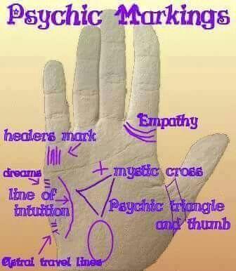 psychic hand markings
