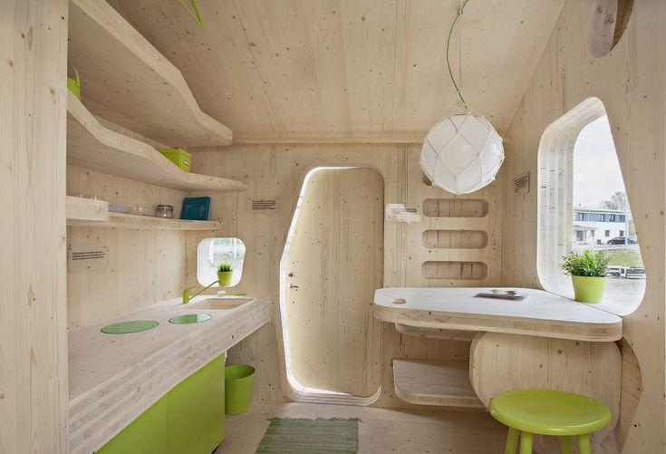 Takhle nějak by mohla vypadat sauna... Studentboende: Student Unit / Tengbom