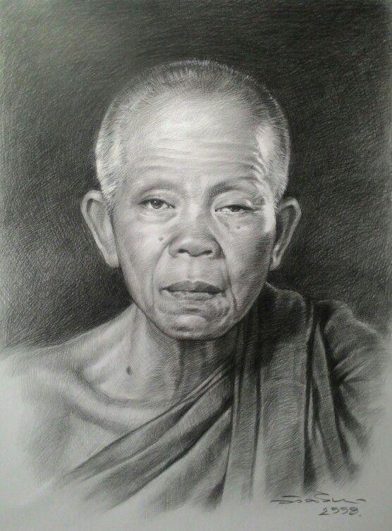 Drawing 30x40 cm.  Thailand 2016