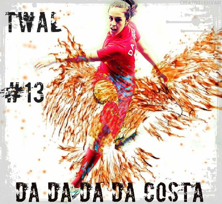 It's Da Da Da Da Costa (Yep, its Amanda Da Costa) American soccer player currently playing in LFC Ladies... #13, lights up midfield with her brilliant ball control