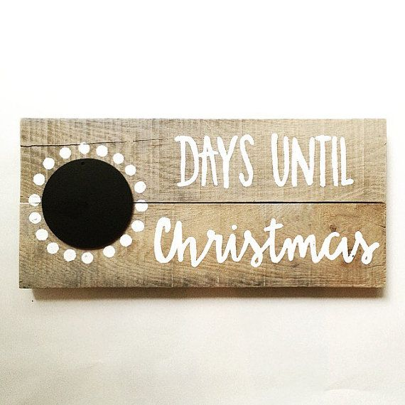 Christmas Countdown Sign Days Until Christmas by TaggedWithLove1