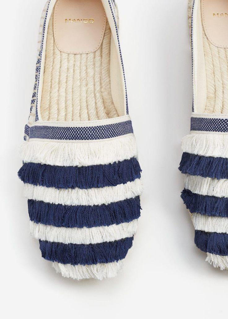 Espadrilles coton à rayures | MANGO