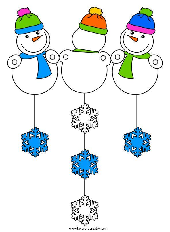 Pupazzi neve addobbi finestre decorazioni invernali for Addobbi di natale per bambini scuola infanzia