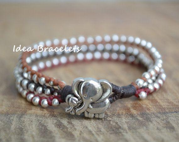 Mommy bracelet Elephant bracelet Elephant jewelry by IdeaBracelets, $9.00