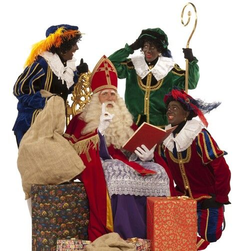 Sinterklaas en zijn zwarte pieten.