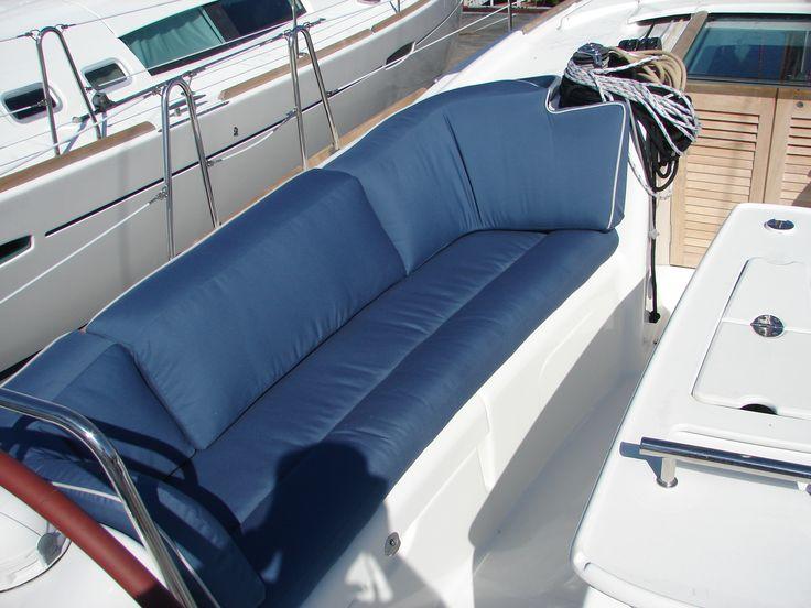 Beneteau 40 couch style cockpit cushions  www.MurrayYachtSales.com