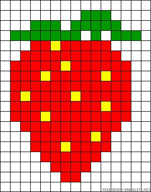 Strawberry perler bead pattern Read at : diyavdiy.blogspot.com
