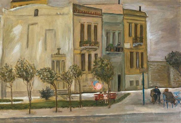 Ξημερώματα της 14ης Σεπτεμβρίου του 1960 έφυγε από την ζωή ο Μ. Καραγάτσης. Για τη σύζυγό του Νίκη Καραγάτση το γεγονός αυτό σήμανε την απελευθέρωσή της από τα συζυγικά δεσμά και την αφοσίωσή της στην τέχνη της ζωγραφική.  φωτ. Καραγάτση Νίκη-Πλατεία Μεταξουργείου