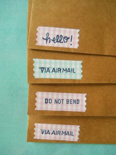 Happy Homemade: DIY Washi Tape - For sending photos!!