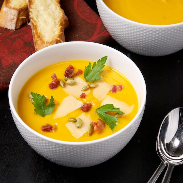 Creamy Sweet Potato Soup - Oui, Chef | I'm a Foodie | Pinterest