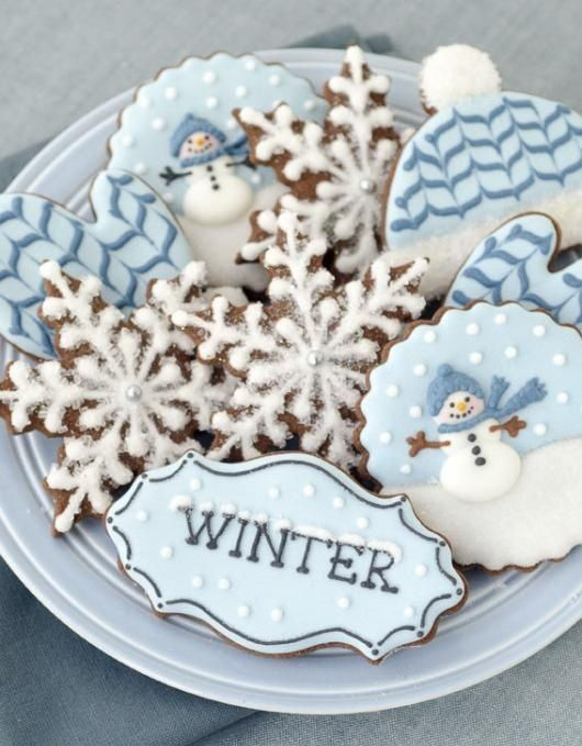 snowflake cookies - like the sparkles on the frosting.