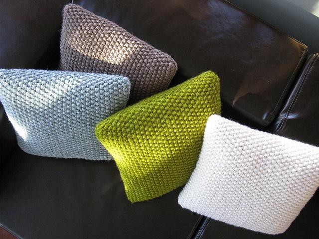 Knit pillows