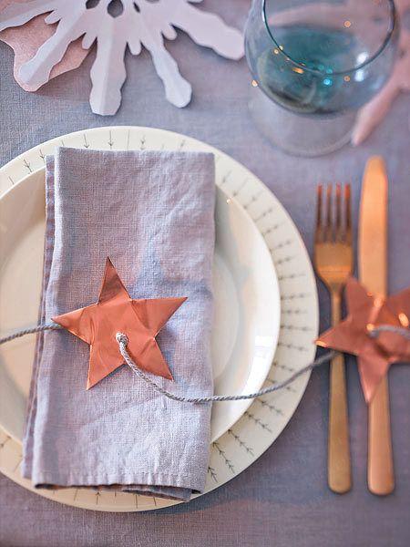 Weihnachtliche Tischdeko für festlichen Glanz - sternengirlande  Rezept