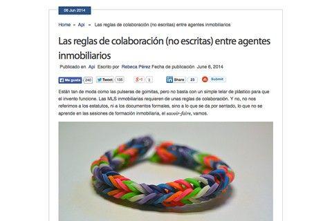 Las reglas de colaboración no escritas entre agentes inmobiliarios artículo de Rebeca Pérez publicado en Api.cat en el que ha colaborado Monapart