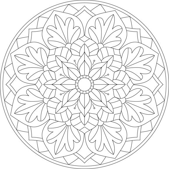 Mandala Monday 14 – Free Download To Colour In « Gentleman Crafter