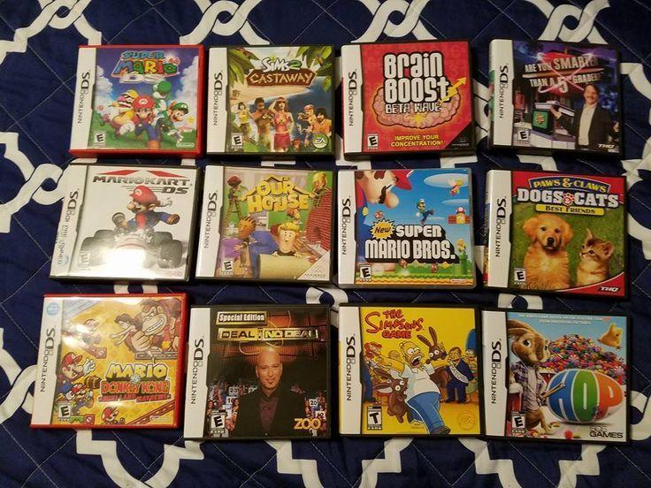 13 Nintendo Ds Games (Super Mariokart,Super Mario 64, Sims Castaway, Sims)