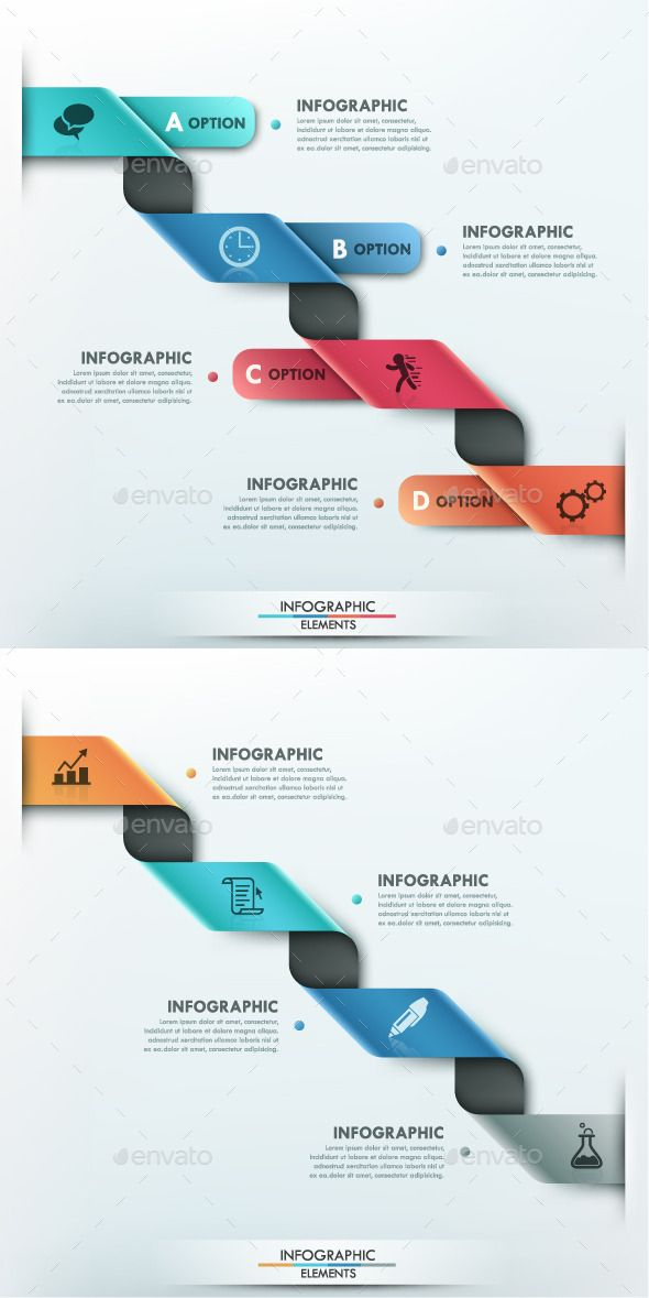 Modern Infographic Options Template (2 Items) #design Download: http://graphicriver.net/item/modern-infographic-options-template-2-items/9951138?ref=ksioks