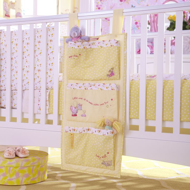 Organise nappy changing clutter with this pretty Lottie Fairy Princess Cot Tidy, a nice, yet practical accessory for your baby's nursery. www.izziwotnotoutlet.co.uk