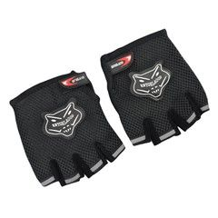 Comfort Fingerless Sports Cycling Gloves (Black)