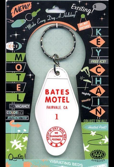 Bates Motel Retro Hotel Room Keychain