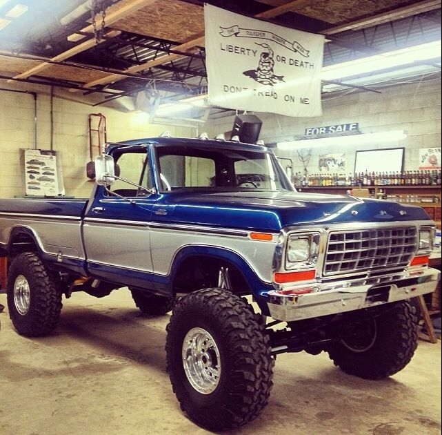 1978 Ford 4x4......Beautiful truck but the lift and tires ruin it. I like more of a classic/stock look.