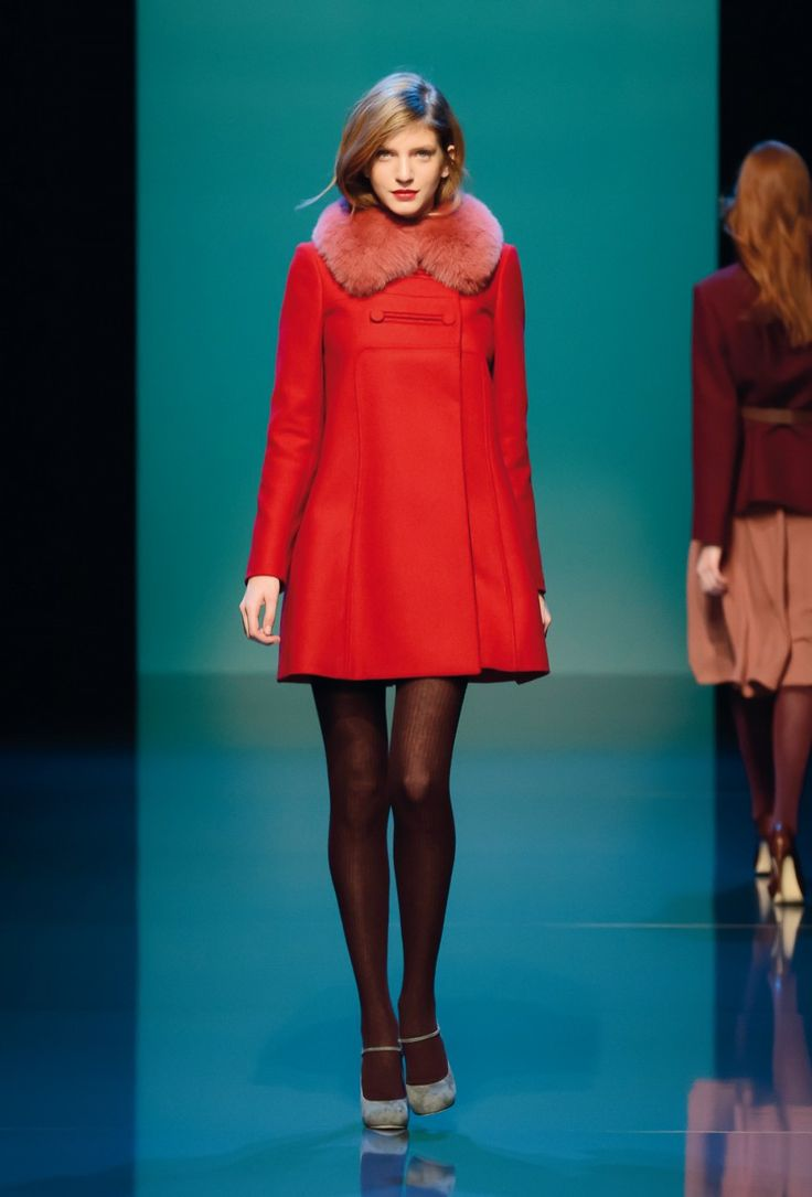 Beautiful red coat by Tara Jarmon... want!!