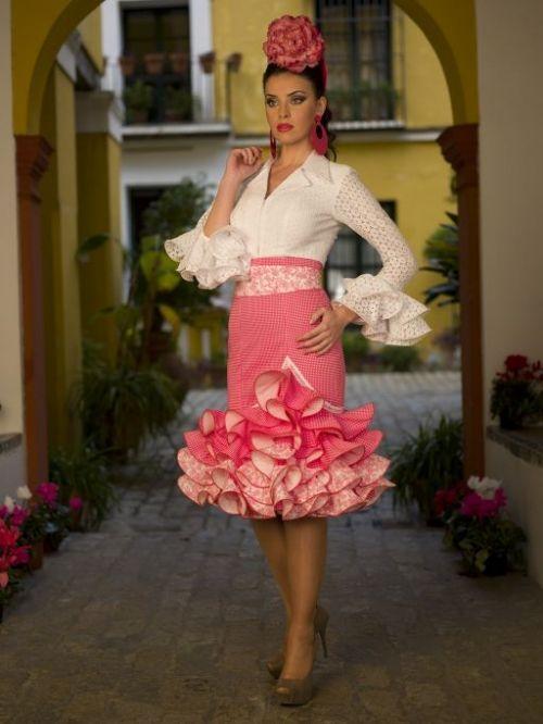 Aires de Feria - Tu traje de Flamenca Falda corta rosa