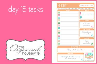 {The Organised Housewife} 20 Days to Organise & Clean your home Challenge - Day 15