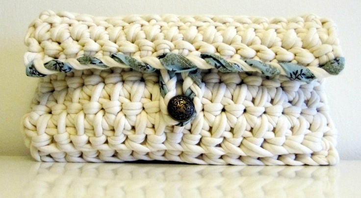 Clutch bag, crocheted. (May 2012)