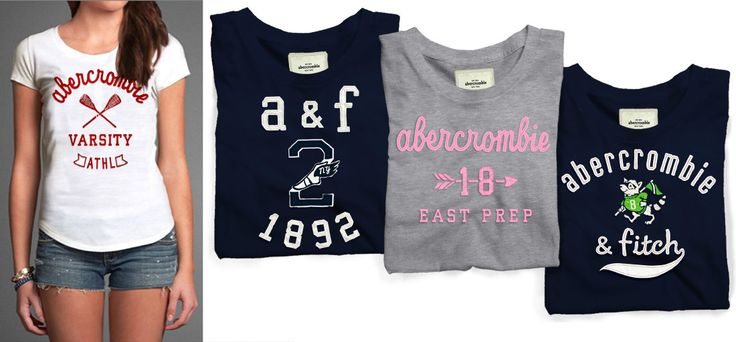 abercrombie girls graphic tees