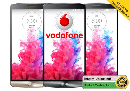 Unlock LG G3 by unlock code from Vodafone  in minutes :)
