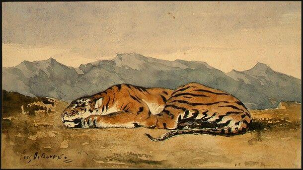 Eugene Delacroix, 1830, Tijger