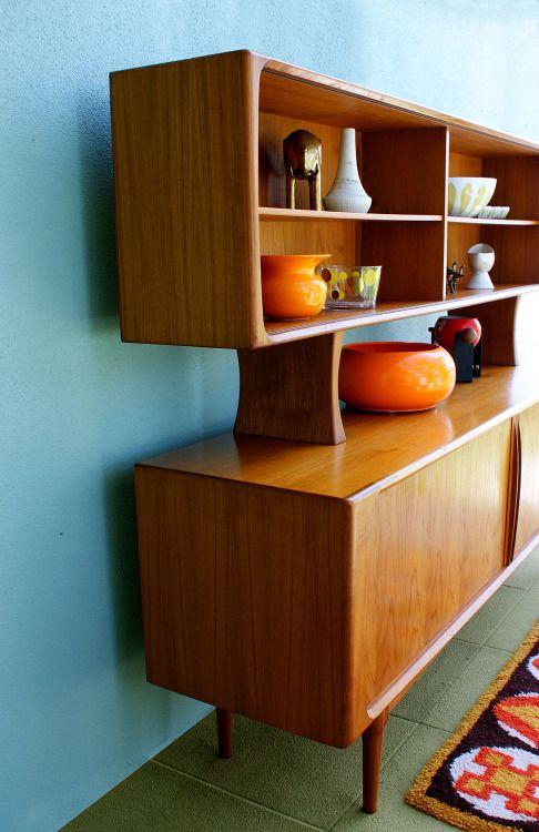 Mid-Century Danish Modern Arne Vodder Sideboard Cabinet with Tambour Doors | BPS M Handmade in Denmark