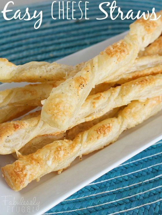 Easy Cheese Straws Recipe! Easy and tasty appetizer recipe for cheese straws. Only a few ingredients needed!