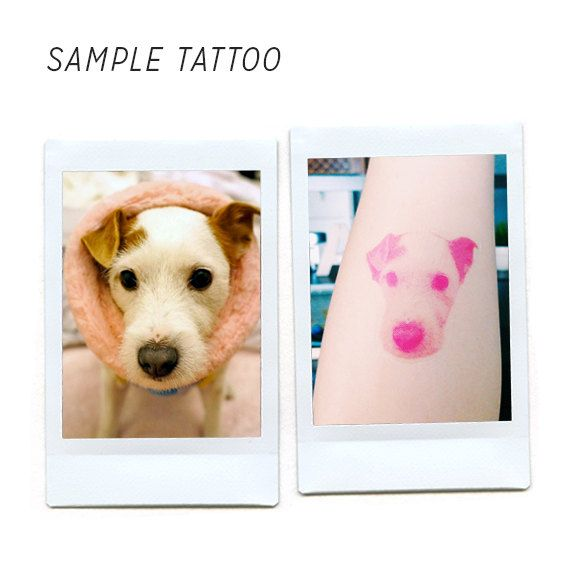Custom Temporary Tattoos of Your Pet Set of 2 by CMFLYK on Etsy, $6.00