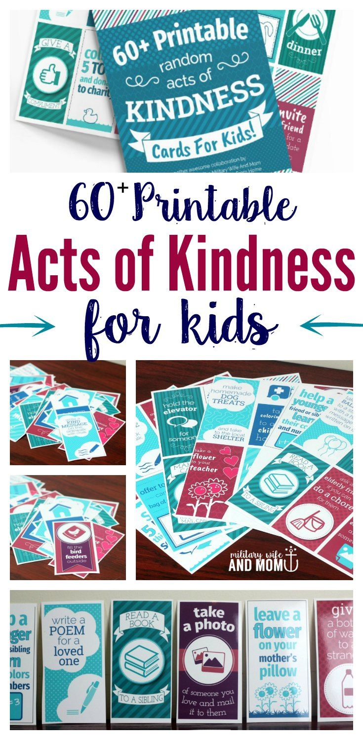 Learn 60+ printable random acts of kindness ideas…