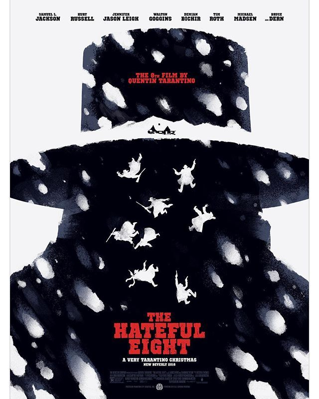 The Hateful Eight Poster by Justin Erickson