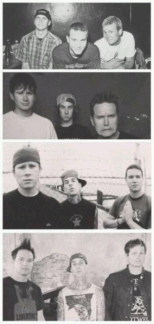 Blink 182 Through the years. They're always cute(: