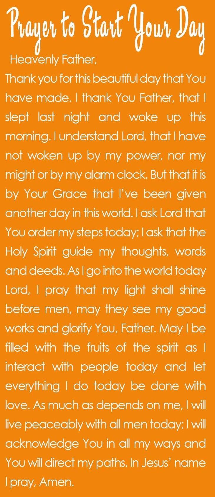 T T start every day prayer