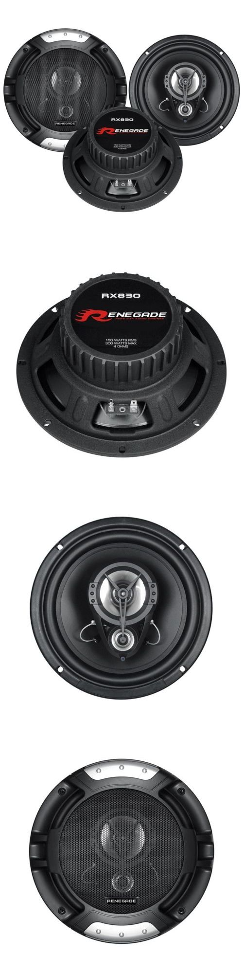 Car Speakers and Speaker Systems: Renegade Rx830 8 300 Watt 3-Way 4 Ohm Coaxial Car Audio Stereo Speaker (Pair) -> BUY IT NOW ONLY: $43.95 on eBay!