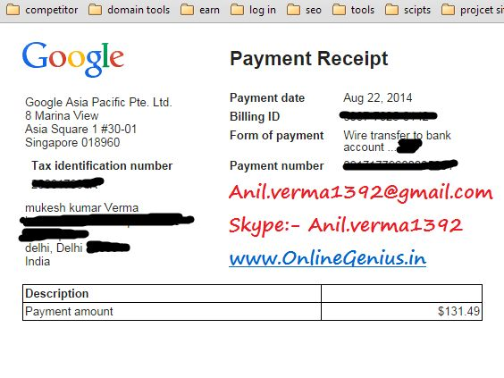 #adsense earning proof  2000 USD september 2014 www.onlinegenius…. Contact: – …