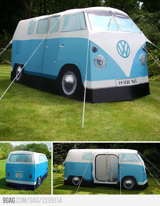 I Want!   officially licensed,tent is a full-size replica of the iconic 1965 volkswagen camper van.
