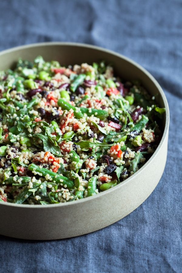 A highly untraditional spin on three bean salad, this protein-packed black and kidney bean quinoa salad is nutritious and easy to prepare.