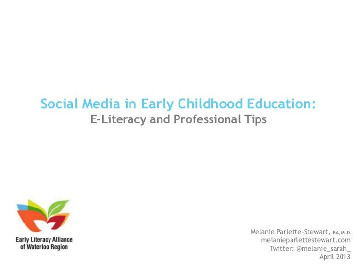 Social Media in Early Childhood Education
