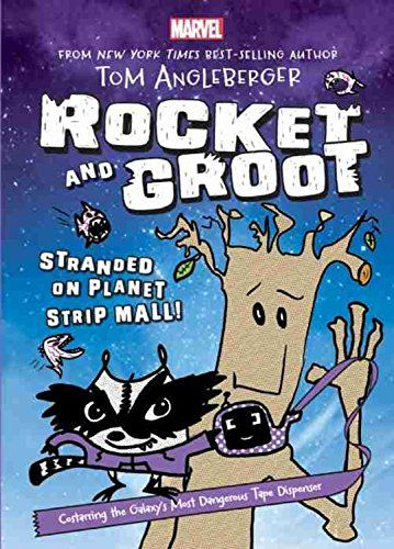A quick and enjoyable read for sixth graders! Rocket and Groot: Stranded on Planet Strip Mall! (Marvel Middle Grade Novel) by Tom Angleberger