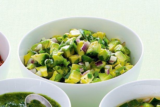 Avocado, lime and coriander