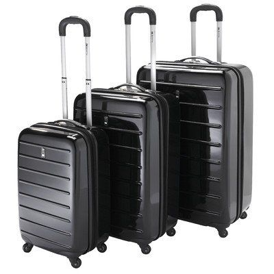 Travel Concepts Parallel 3 Piece Luggage Set  BLACK -- Check out the image by visiting the link.