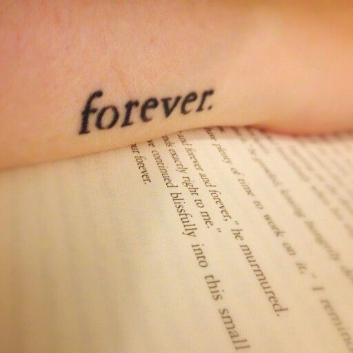Twilight Tattoo text forever.