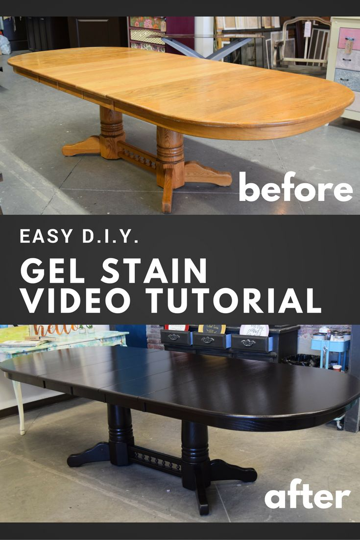No stripping back to raw wood! No power sander required! This video will teach you how to apply General Finishes Gel stains to a previously stained and sealed piece of furniture.